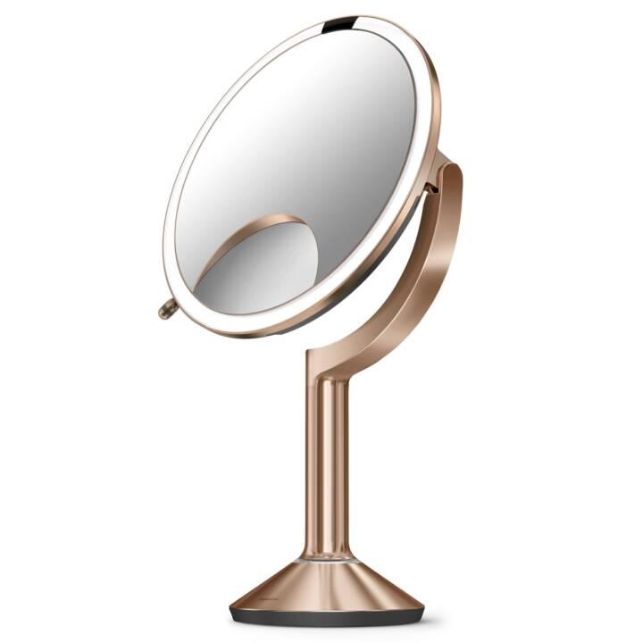 SIMPLEHUMAN Miroir cosmétique avec capteur Trio Rosé