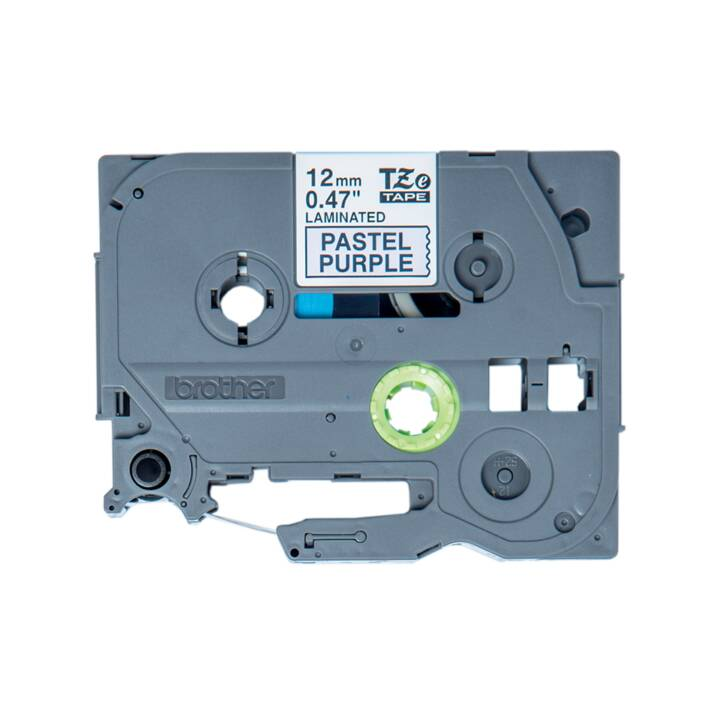 BROTHER TZeMQF31 Cartuccia del nastro inchiostro (12 mm x 4 m, Nero / Viola pastello)