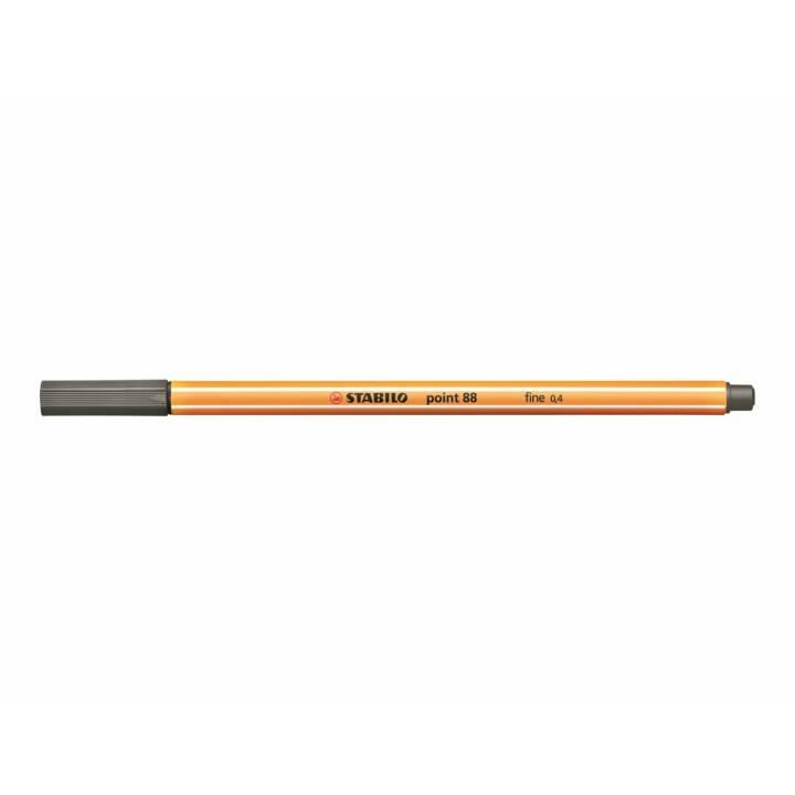 STABILO pointe fine 88 0,4mm gris foncé