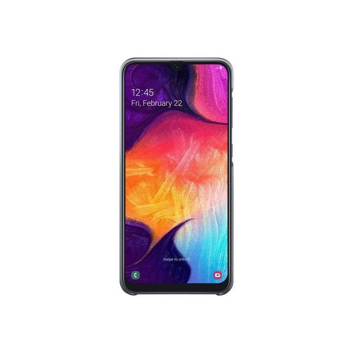 SAMSUNG Backcover Gradation (Galaxy A50, Noir, Transparent)