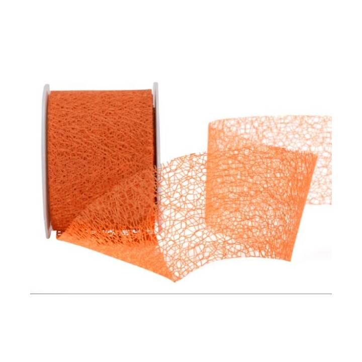 SPYK Geschenkband Easy (70 mm x 10 m, Orange, Einfarbig)