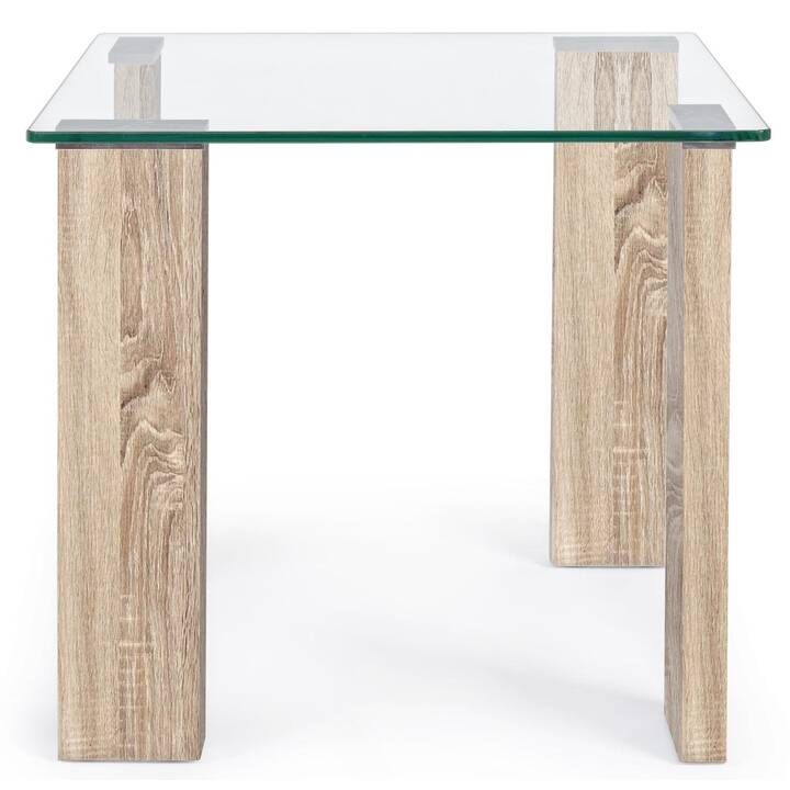 MUTONI LIFESTYLE Petite table New Arley (51 cm, Brun, Transparent)