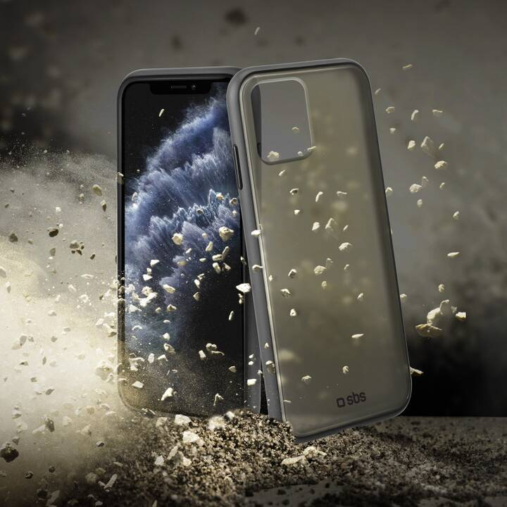SBS Backcover NON-SLIP MATTE (iPhone 11 Pro, Nero, Transparente)