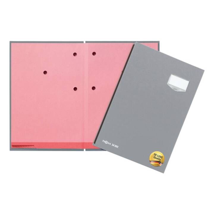 PAGNA Unterschriftenmappe De Luxe (Grau, A4, 1 Stück)