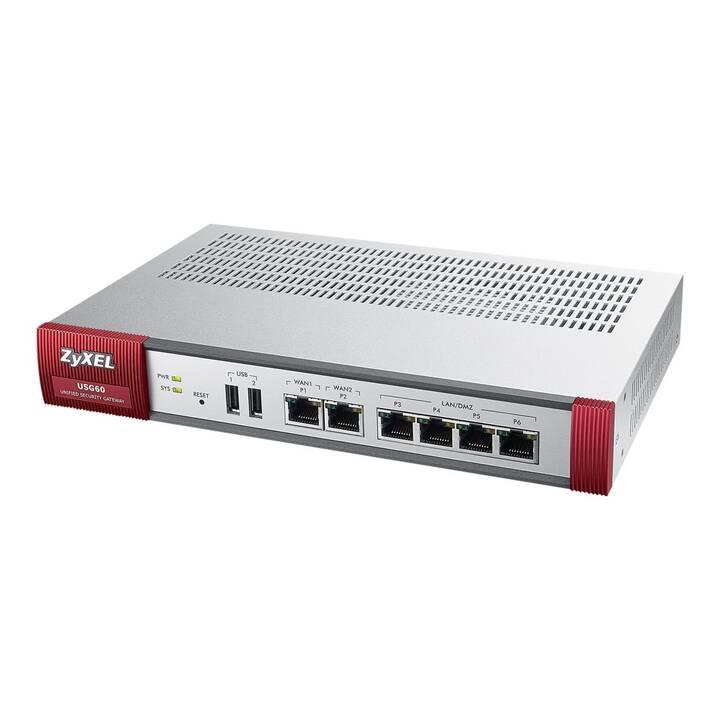 ZYXEL USG60 (Business, Enterprise, 1000 Mbit/s)