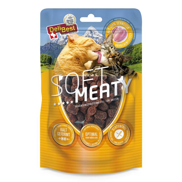 DELIBEST Leckerlis Soft Meatys (Biscuits, Huhn, 100 g)