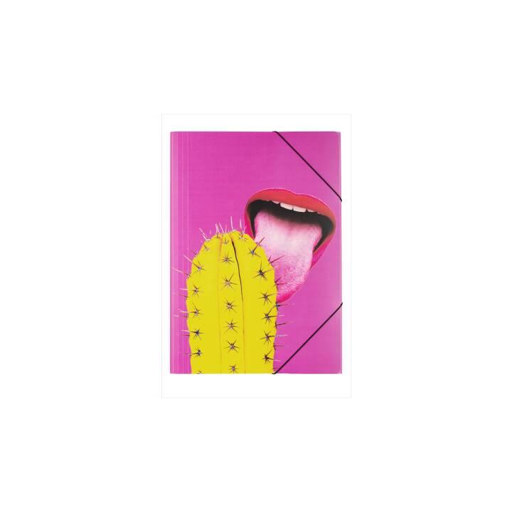 PAGNA Gummizugmappe (Pink, A3, 1 Stück)