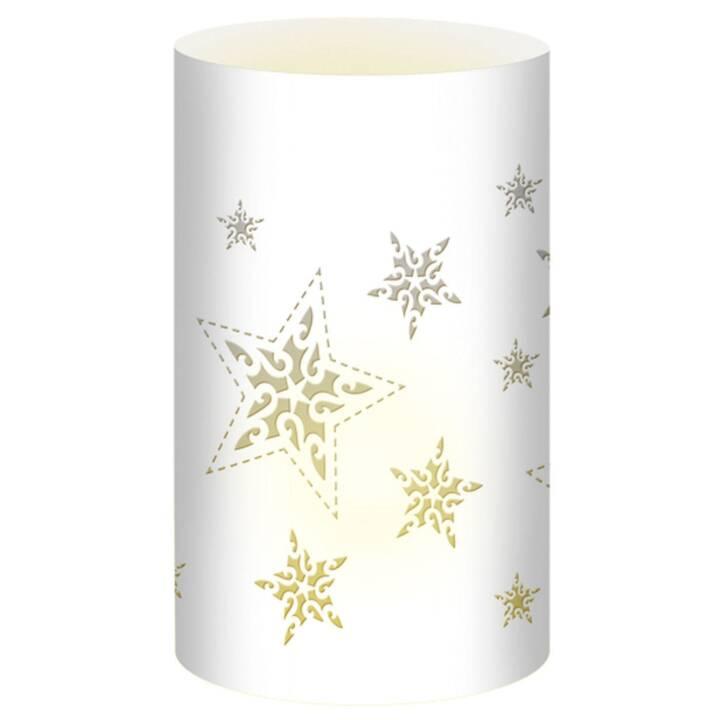 URSUS Weihnachtswindlichter Sterne Weiss
