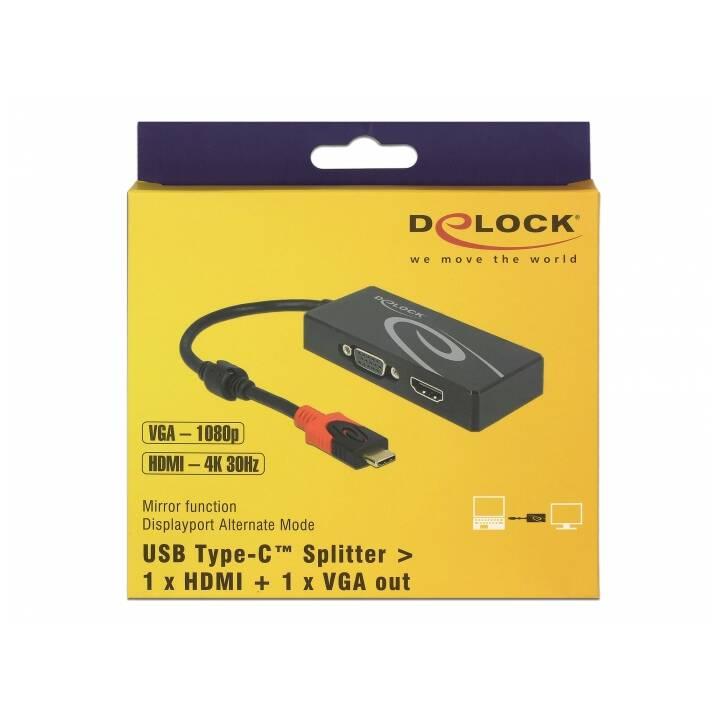 DELOCK Splitter di segnale a 2 porte