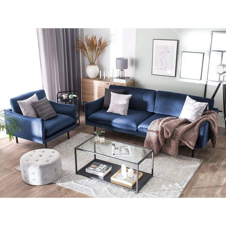 BELIANI VINTERBRO Sofa (Samt, Blau)