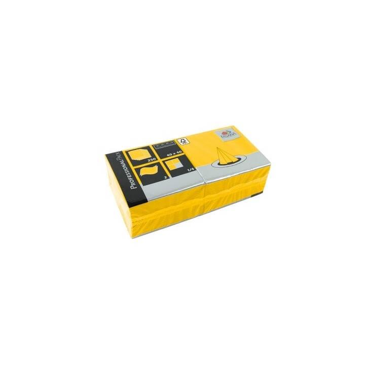 FASANA Papierserviette (250 Stk, Einfarbig, Gelb)