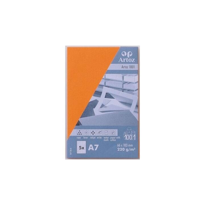 Cartes de visite ARTOZ 1001 A7 Orange - 5 pièces