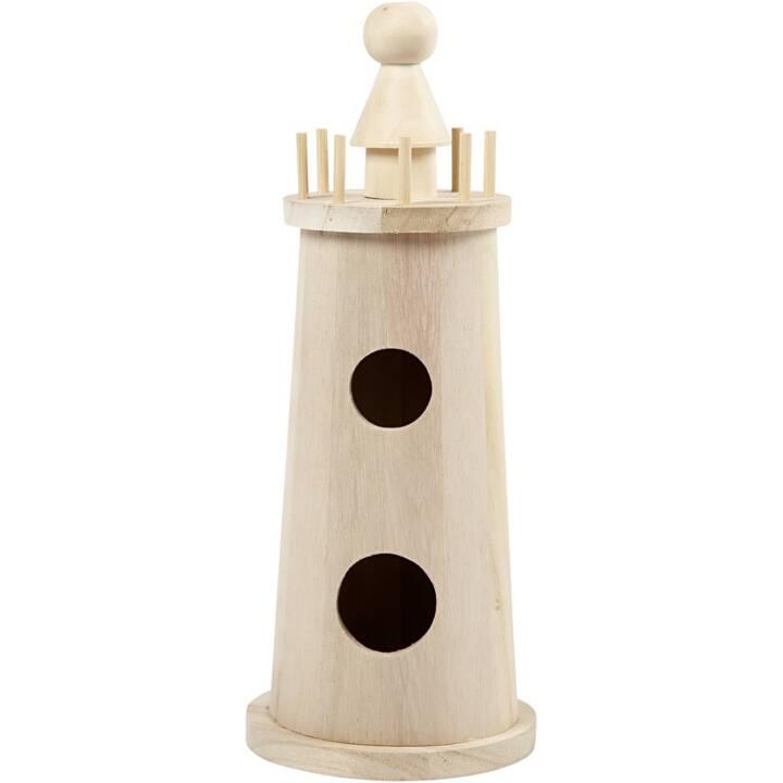 CREATIV Holz Leuchtturm 25 cm