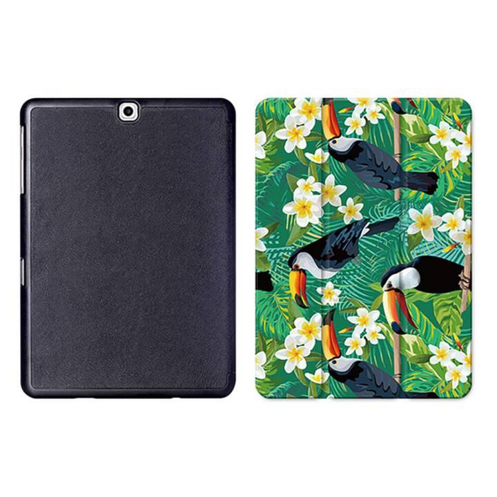 """EG MTT Tablet Tasche mit Smart faltbare Abdeckung für Samsung Galaxy Tab S2 9.7 """"- Vogel"""