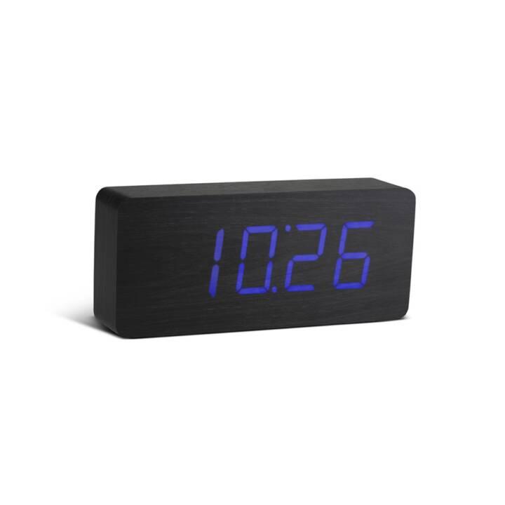 GINGKO Slap Click Clock (Schwarz, Fun Wecker)