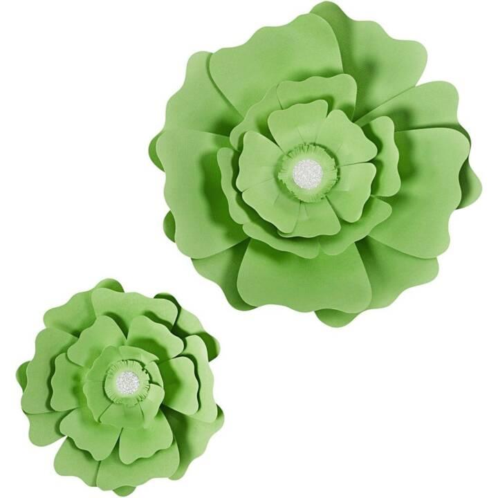CREATIV COMPANY fleurs 15 + 25 cm, vert clair