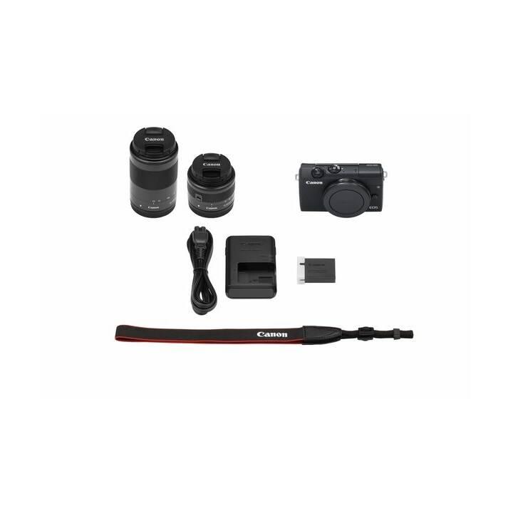 CANON EOS M200 Black incl. EF-M 15-45 mm + EF-M 55-200 mm Kit (24.1 MP, WLAN)