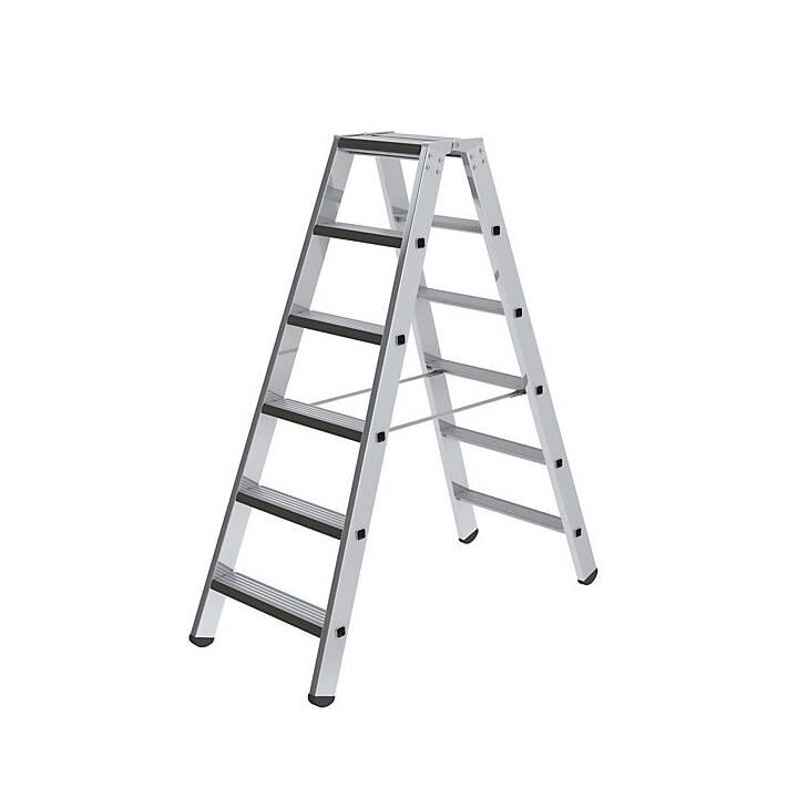 EUROKRAFT Stufen-Stehleiter, beidseitig