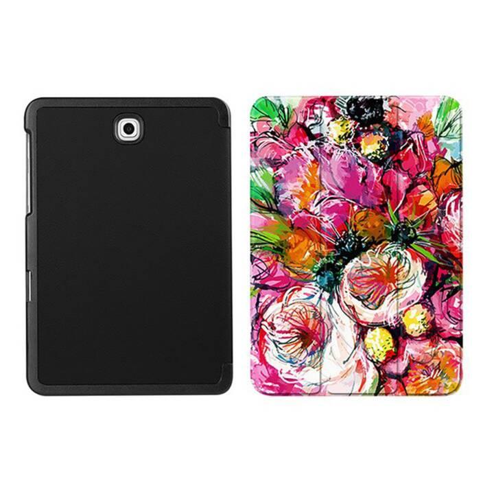 """EG MTT Coque tablette pour Samsung Galaxy Tab S2 8"""" - Fleur Rose"""