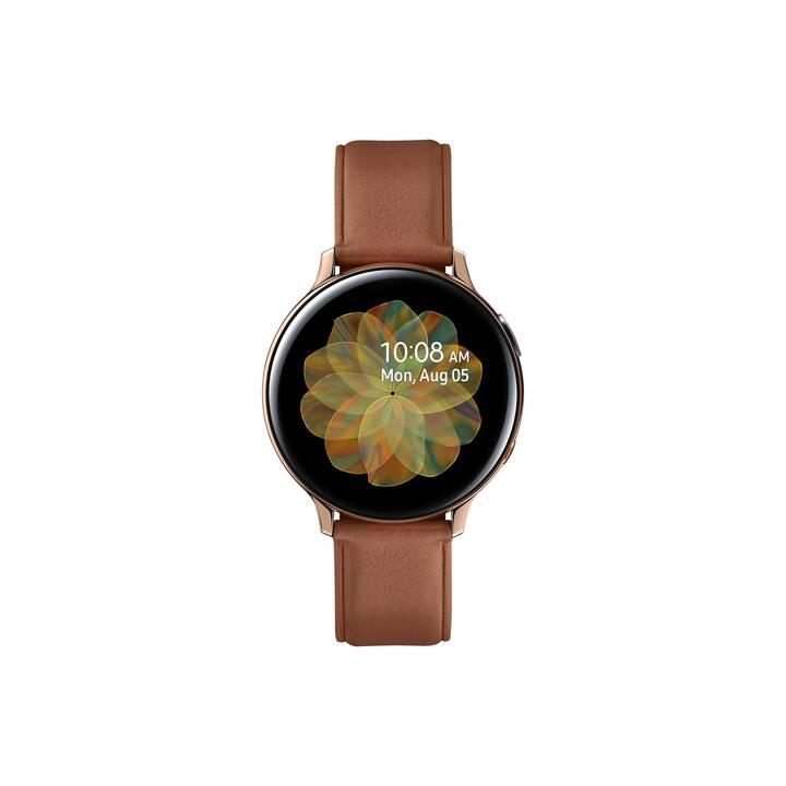 SAMSUNG Galaxy Watch Active 2 LTE (44 mm, Acier inox, Cuir véritable)