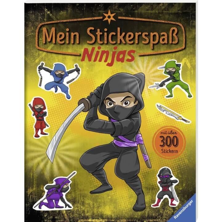 RAVENSBURGER Stickerbuch Ninjas