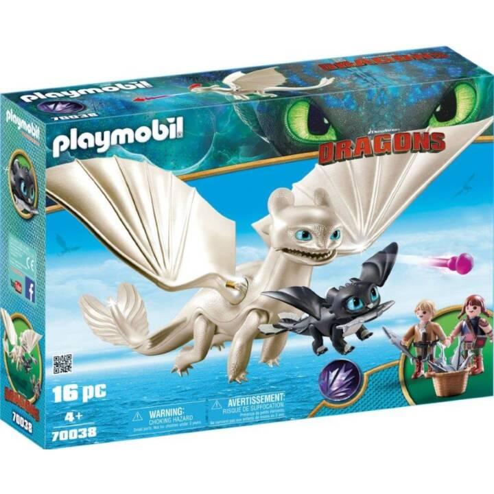 PLAYMOBIL Dragons Furie Éclair et bébé dragon avec les enfants (70038)