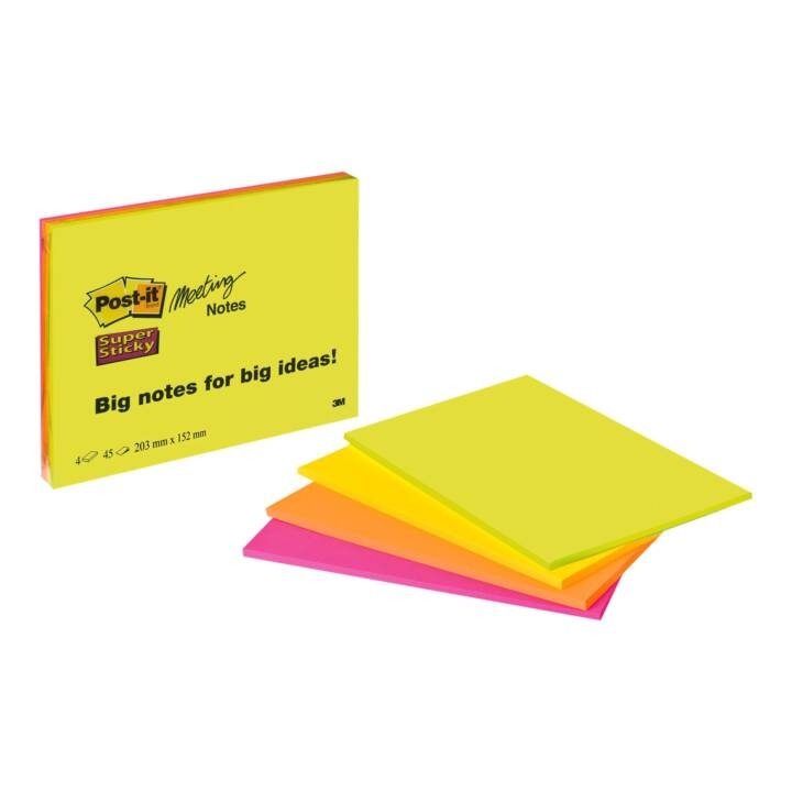 3M Post-it Super Sticky 14,9 x 20 cm Farbig