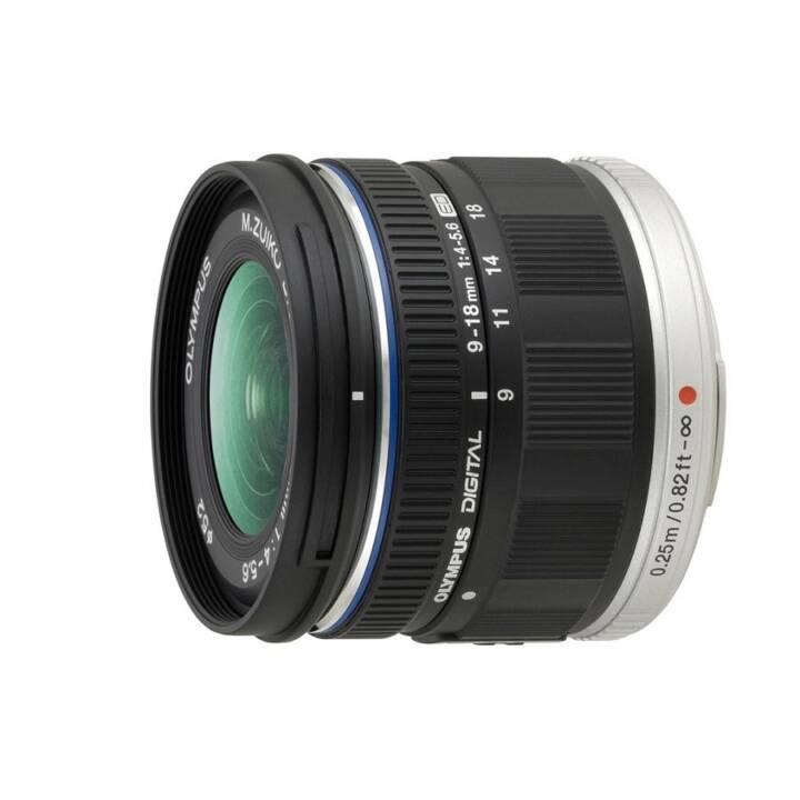 Obiettivo grandangolare OLYMPUS zoom 9 mm - 18 mm f/4.0-5.6