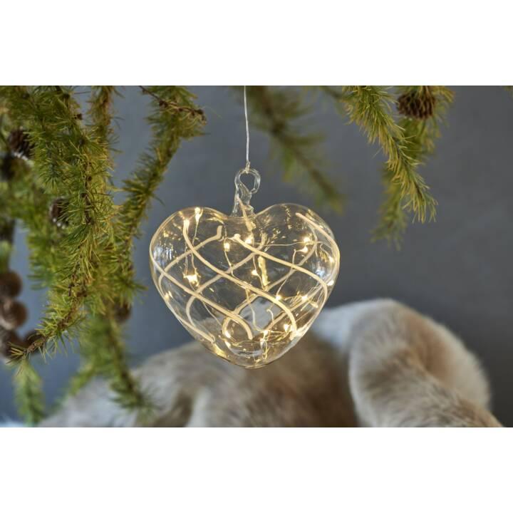 SIRIUS LED Weihnachtskugel Vein Herz 15cm
