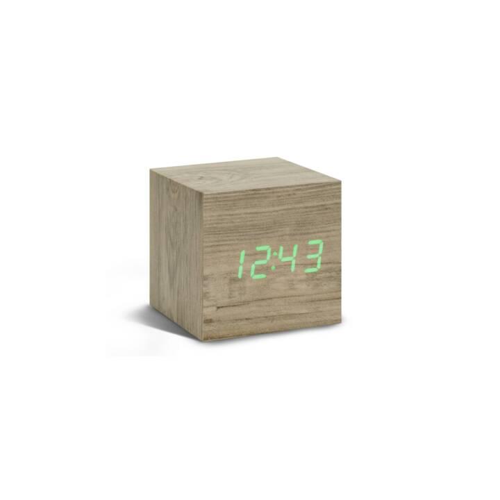 GINGKO Cube Click Clock Holz