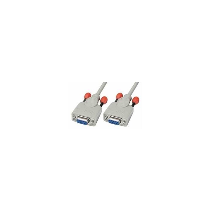 LINDY Câble de connexion (D-Sub (9-polig), 9-pôles, D-Sub, 10 m)