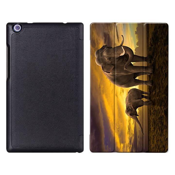 """EG MTT Tablet Bag con coperchio pieghevole per Lenovo Tab 2 Tab 3 8"""" Tablet Elefanti Tab 2 Tab 3 8"""" Tablet"""