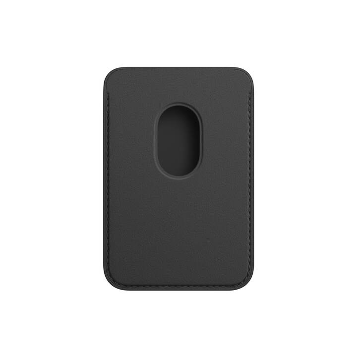 APPLE Tasche Wallet MagSafe (iPhone 12, iPhone 12 Mini, iPhone 12 Pro, iPhone 12 Pro Max, Schwarz)