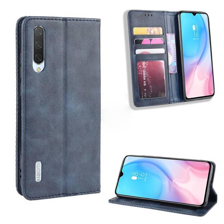 """EG Mornrise Étui portefeuille pour Xiaomi Mi Note 10 6.47"""" 2020 - Bleu foncé"""