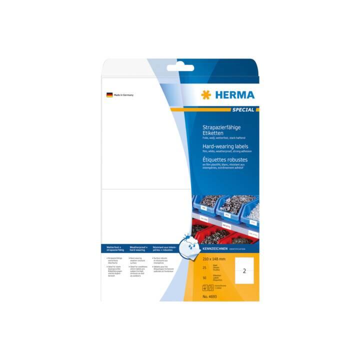 Etiquettes HERMA A4 210x148 mm 50 pièces
