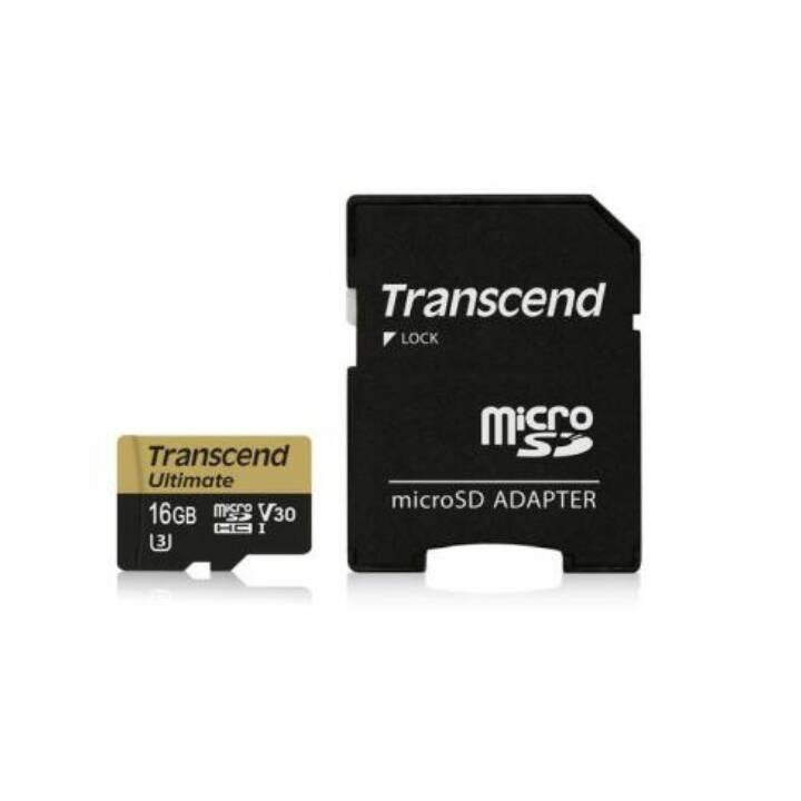 TRANSCEND Ultimate, 16 GB, microSDHC UHS-I