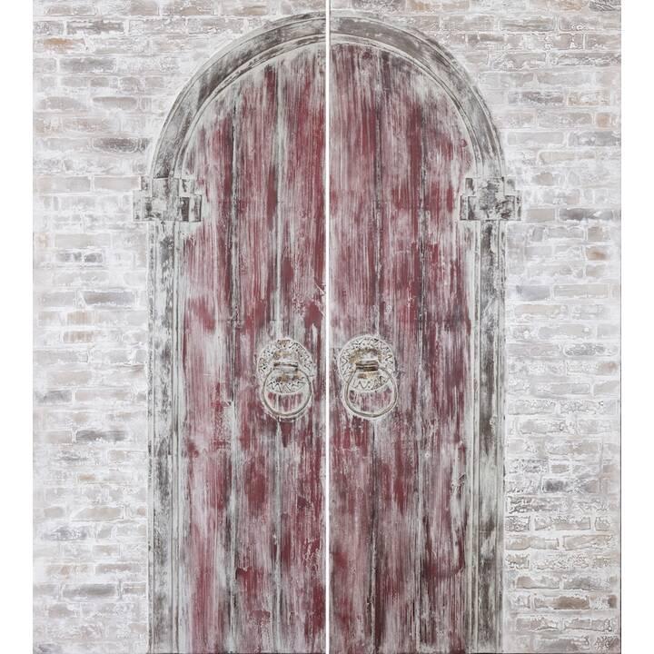 MUTONI VINTAGE Wandbild Indische Tür handgemalt (2-teilig)