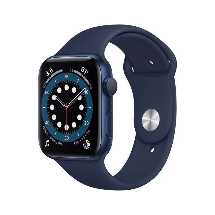 APPLE Watch Series 6 GPS (40 mm, Aluminium, Silicone)