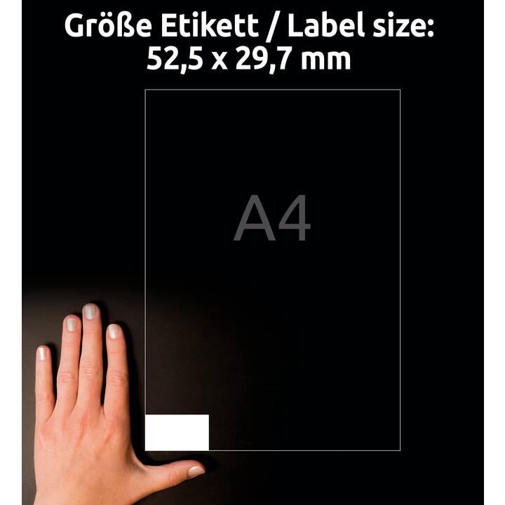 AVERY ZWECKFORM 3651-200 ultragrip Etiketten (A4, 52.5 x 29.7 mm, 220 Blatt)