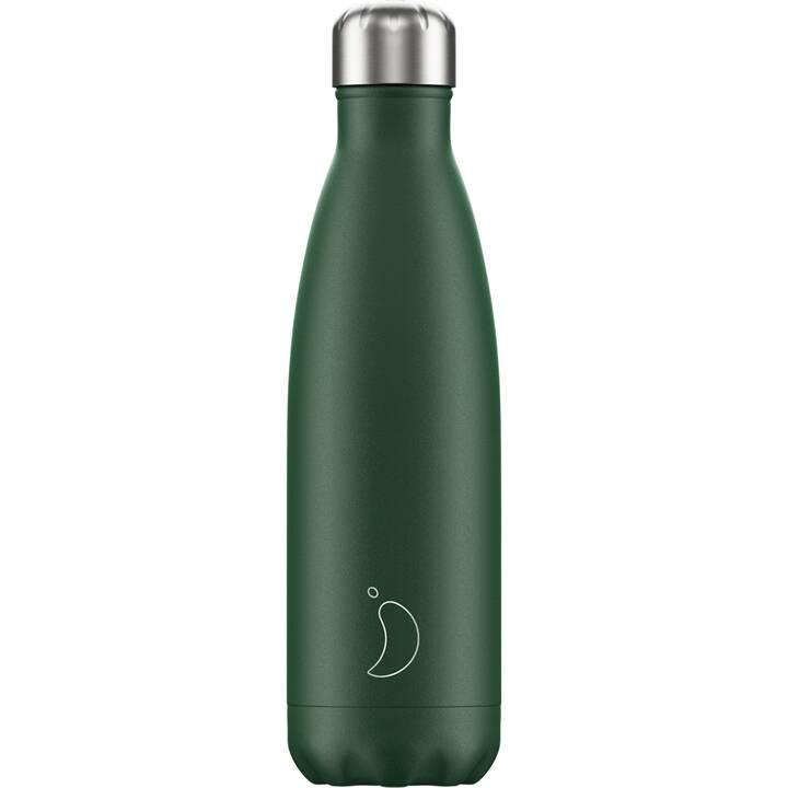 CHILLY'S Bottiglia sottovuoto Matte Green (500 ml, Verde)