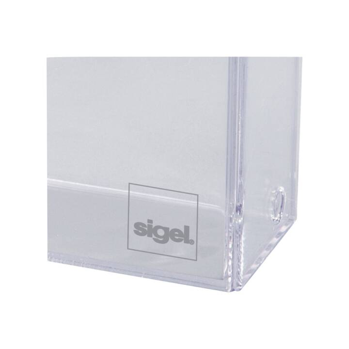 SIGEL Visitenkartenhalter Transparent 100 Karten 86x55mm