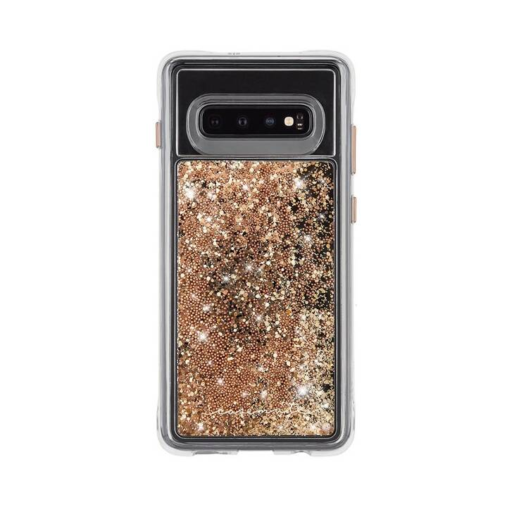CASE-MATE Backcover Waterfall (Galaxy S10, Transparent, Gold)