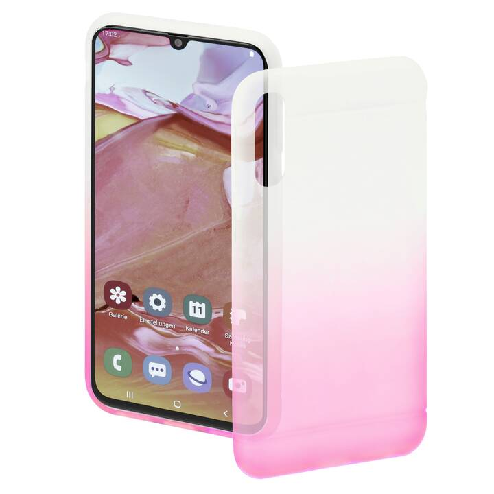 HAMA Backcover Colorful (Galaxy A70, Pink, Transparente)