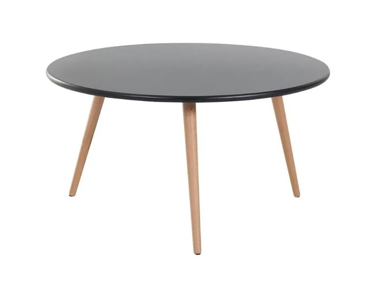 BELIANI Table de salon Tennessee (43.5 cm, Noir)
