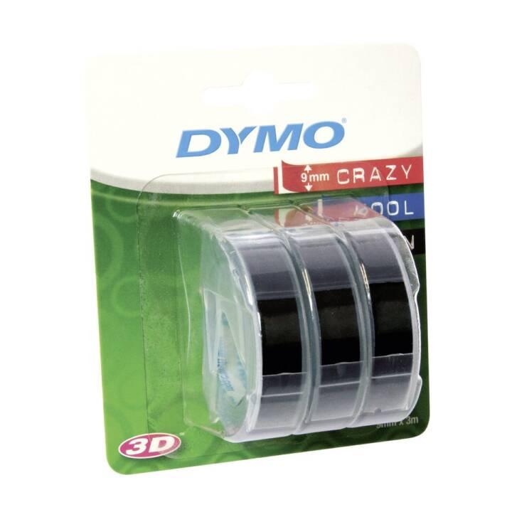 DYMO 3D Prägeband 3er Blister Etiketten (9 mm x 3 m)