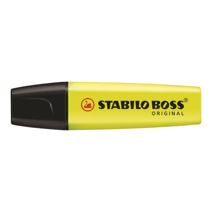 STABILO Glow Marker Boss Original 10 pièces, jaune