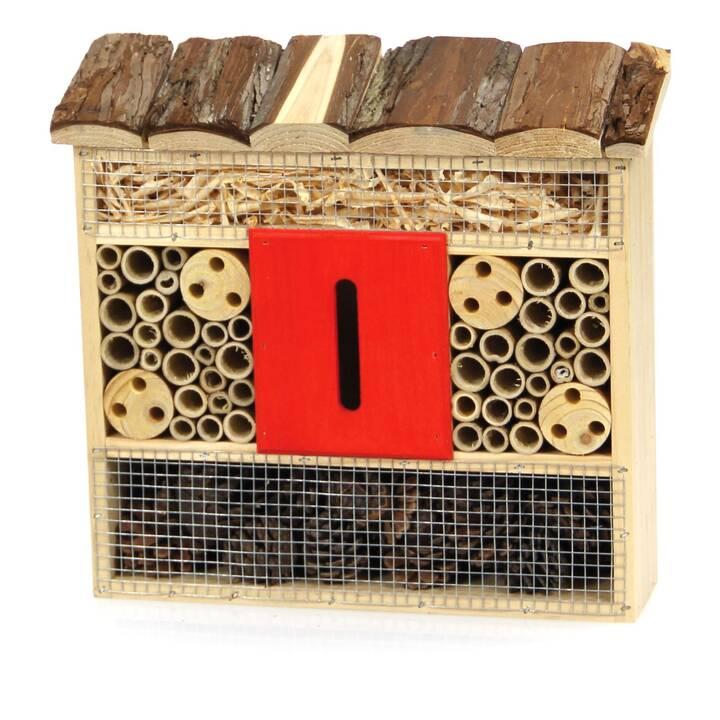 SWISSPET Hotel per insetti Rouge (Marrone, Rosso, 30 cm x 28 cm)