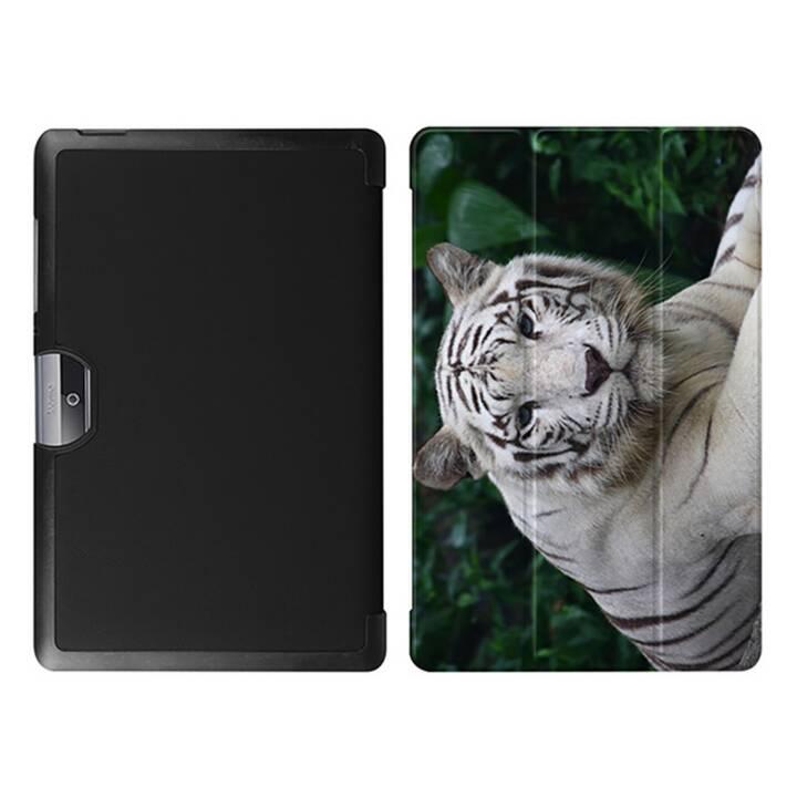"""EG MTT Tablet Tasche mit faltbarer Abdeckung für Acer Iconia Tab 10 10.1 """"- Tiger"""