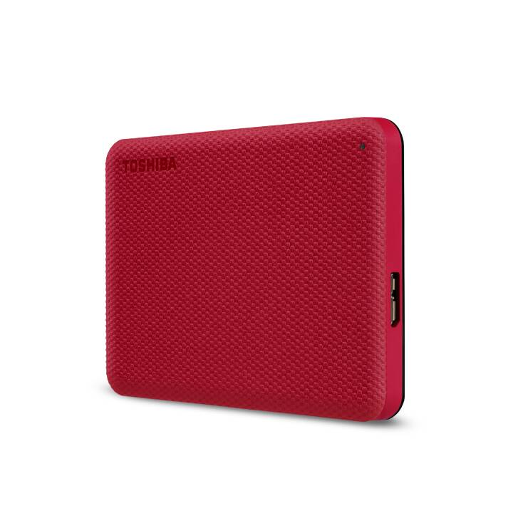 TOSHIBA Canvio Advance (USB 3.2, 4 TB, Rot)