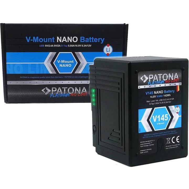 PATONA Sony Platinum V145 Nano Akku (Lithium-Ionen, 9600 mAh)